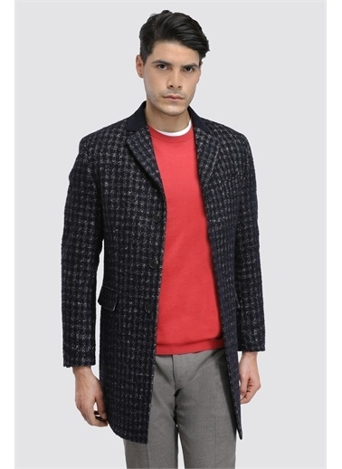 D'S Damat Regular Fit Palto/Pardesu Lacivert